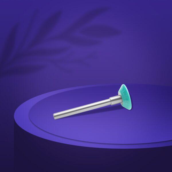 Диск педикюрный пластиковый  PODODISC EXPERT ХS в комплекте с сменным файлом 180 грит 5 шт (10 мм), набор