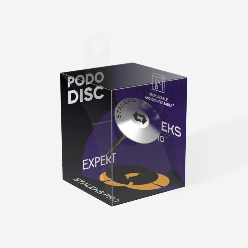 Диск педикюрный зонтик PODODISC EXPERT М в комплекте с сменным файлом-кольцом 180 грит 5 шт (20 мм), набор