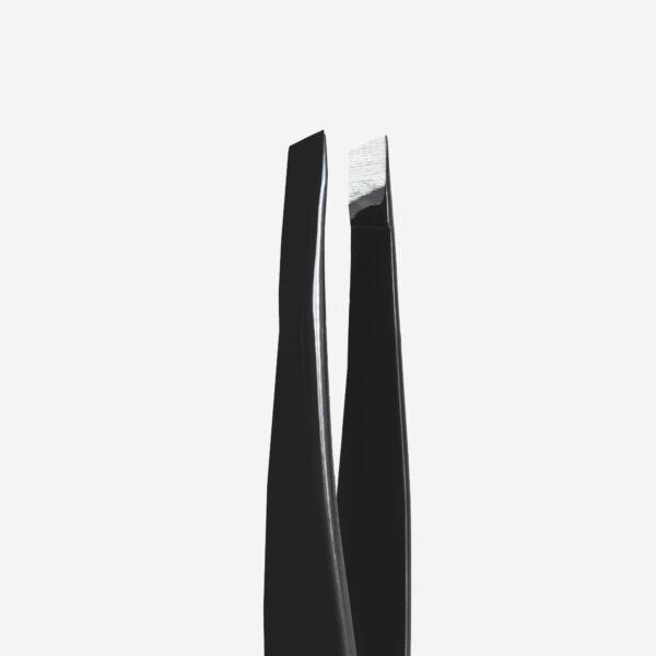 Пинцет для бровей Staleks Pro Expert 11 Type 4b (узкие скошенные кромки), черные
